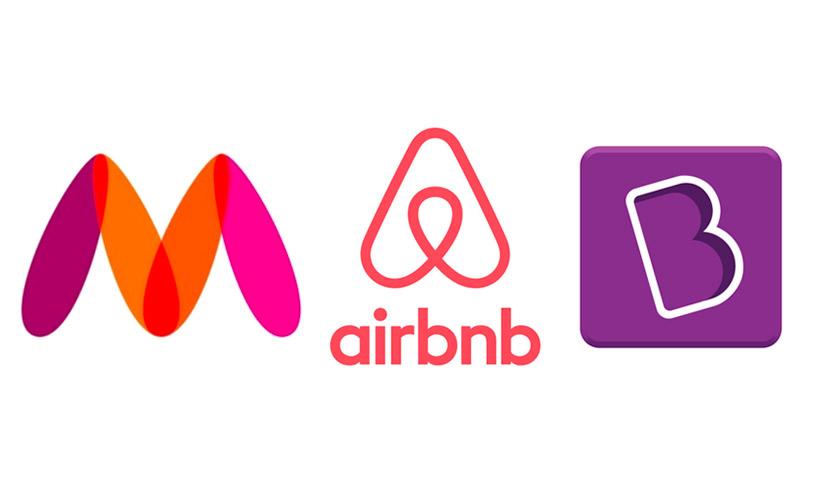 Myntra, Airbnb, Byjus logo