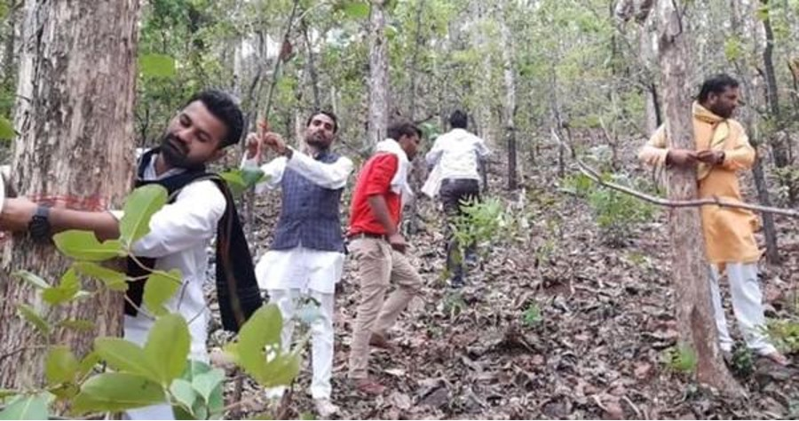 What is the #SaveBuxwahaForest movement?