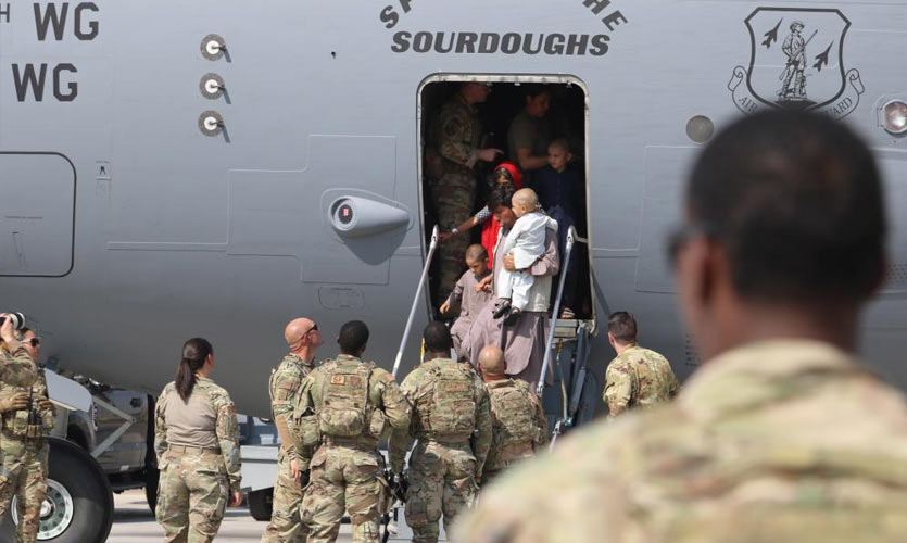 What is the US' plan for accommodating Afghan refugees?