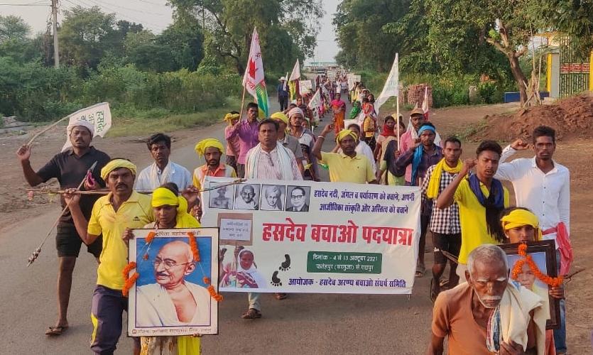 Chhattisgarh: Tribals March To Raipur, Demand Action Against Adani's Alleged Illegal Mining